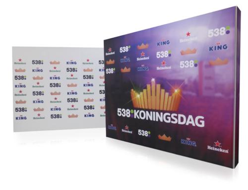 Presentatiewand Smart Wall voor Radio538, Koningsdag